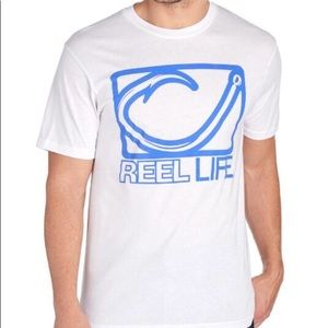 Reel Life Shirts - NWT REEL LIFE Hook Print Logo Tee Shirt - Large